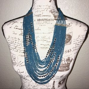 Jewelry - Multi Strand Teal Necklace